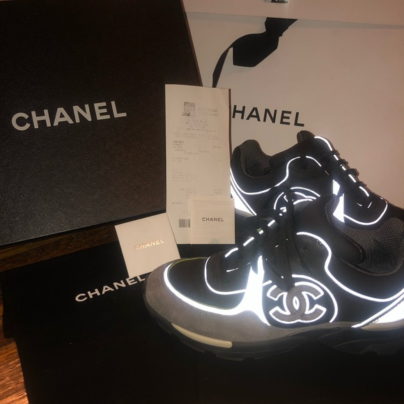 Auth Chanel 3m Sneakers Suede Size